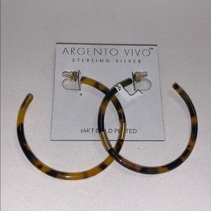 Cheetah print hoop earrings